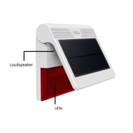 Wireless Outdoor Solar Power Siren works with T30 Smart Security Solution